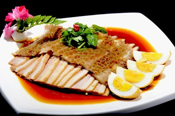 Chinese Food: Salad made of Pork and Eggs