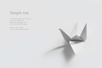 A paper origami crane