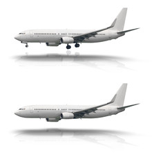 Aircraft isolated with and without wheel