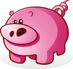 Pig Piglet Cartoon Character Illustration
