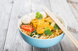 Curry instant noodles soup
