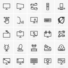 Set of TV icons