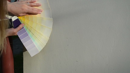 Hands color scale palette match exact color house wall