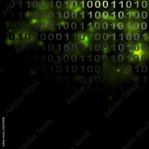 Abstract binary grunge background
