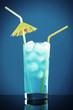Blue cold cocktail