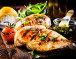 Marinated grilled healthy chicken breasts - 63125623