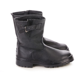 Tarpaulin boots with strap.