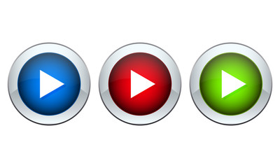 set of buttons with the image of a triangle