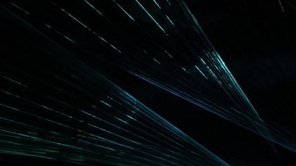 Laser light show in the dark