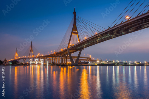 Bhumibol Bridge in Bangkok