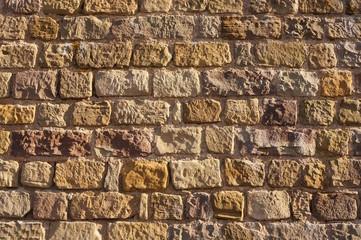 Hintergrund Mauerwerk aus Buntsandstein
