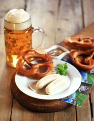 traditionelle Weißwurst Hochformat