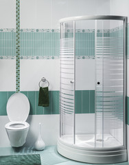 detail of a modern bathroom interior with luxury shower