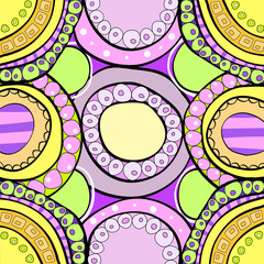 background of colored circles