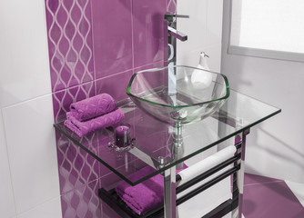 detail of a modern bathroom with luxurious accessories