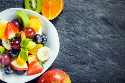 Fresh fruit salad for a healthy diet