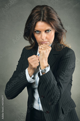 Beautiful and strong business woman