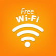 Wifi Symbol With Orange Background