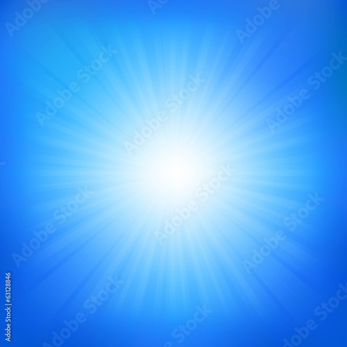 Blue Sky With Sunburst