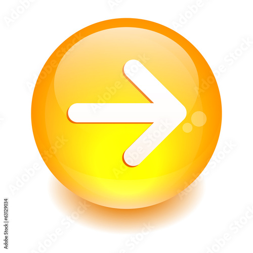 button Internet right arrow orange