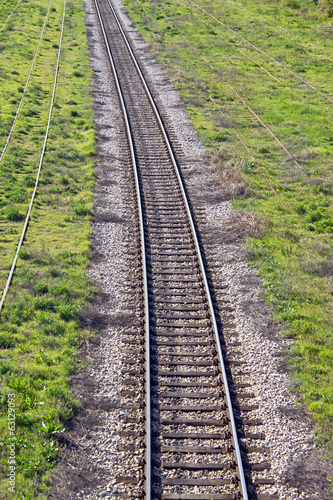 Railroad track through the landscape