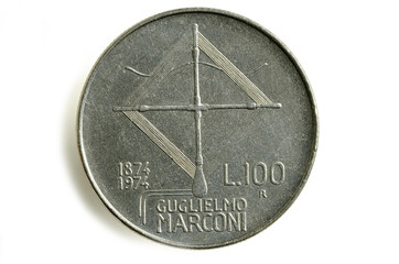 Guglielmo Marconi 100 lire グリエルモ・マルコーニ