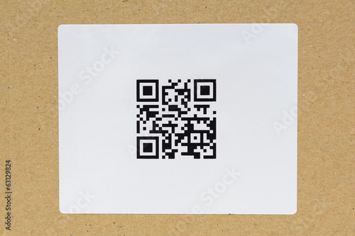 QR code .label on the carton