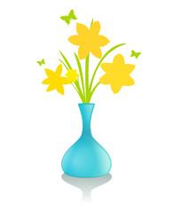 Strauß Narzissen Vase