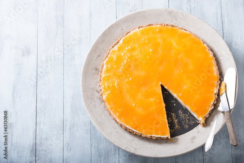 Delicious homemade cheese cake in natural light