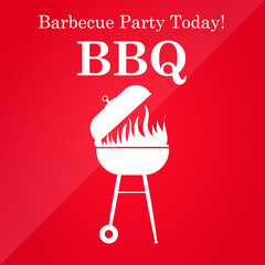 Grill or barbeque vector template.