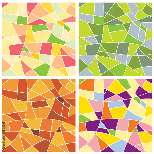 Set of colorful mosaic design