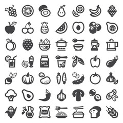 Vegan food flat icons