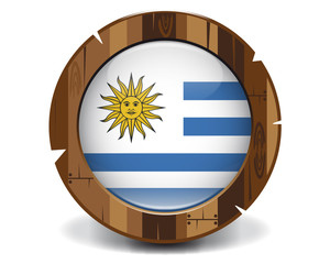 Uruguay wood button