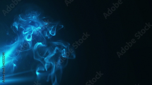 HD video background with smoke and lights