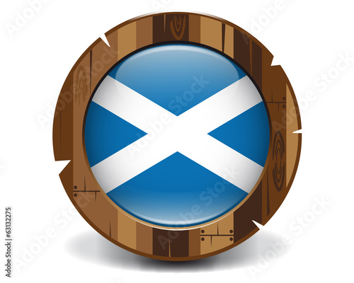 Scotland wood button
