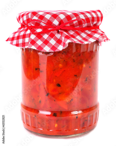 Ajvar chutney relish homemade product