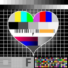 TV-Standbild - Herz (Kalibrierung)