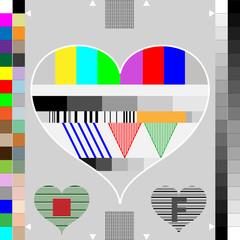 Monitor Kalibrierung Farbe - Herz