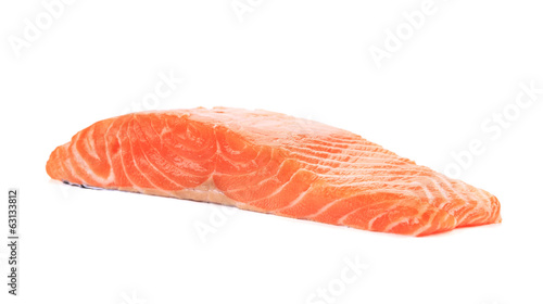 Raw salmon fillet.