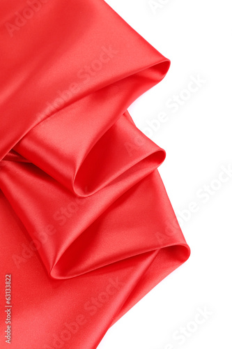 Folds of red satin.