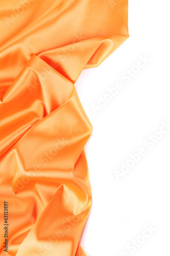 Folds of orange satin.