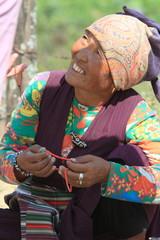 Frau in Nepal