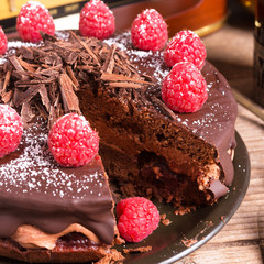 chocolate cake and Turkish coffee - vintage style