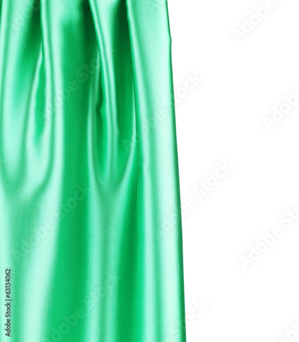 Emerald green silk.