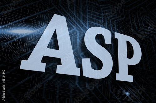 Asp against futuristic black and blue background