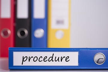 Procedure on blue business binder