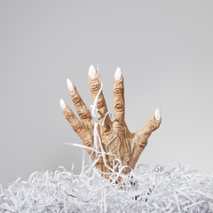Monster Hand and Shredded Paper