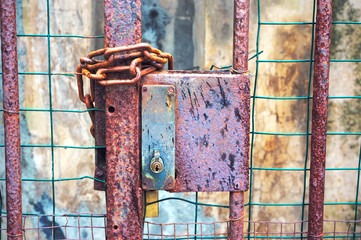 gate closed with lock and chains