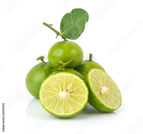 Heap of fresh lime