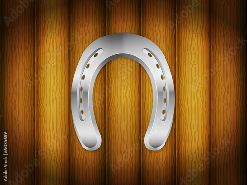 horseshoe wood background